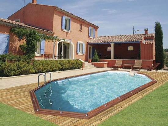 Piscine ronde semi enterr e prix for Piscine semi enterree en bois pas cher